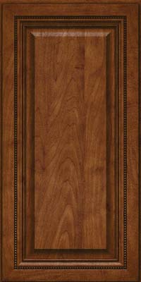 Square Raised Panel - Solid (ALM) Maple in Cognac - Wall