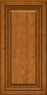 Square Raised Panel - Solid (ALM) Maple in Golden Lager - Wall