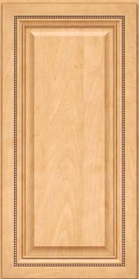 Square Raised Panel - Solid (ALM) Maple in Honey Spice - Wall