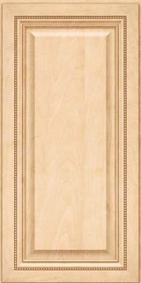 Square Raised Panel - Solid (ALM) Maple in Natural - Wall