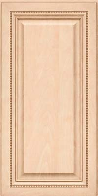 Square Raised Panel - Solid (ALM) Maple in Parchment - Wall