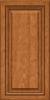 Square Raised Panel - Solid (ALM) Maple in Praline w/Mocha Highlight - Wall