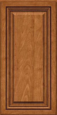 Square Raised Panel - Solid (ALM) Maple in Praline w/Onyx Glaze - Wall