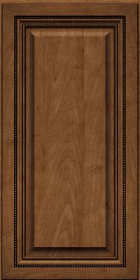Square Raised Panel - Solid (ALM) Maple in Rye w/Onyx Glaze - Wall