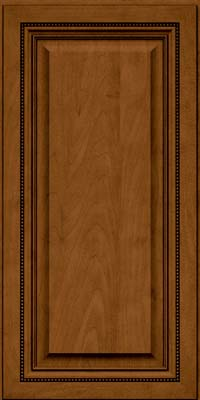 Square Raised Panel - Solid (ALM) Maple in Rye w/Sable Glaze - Wall