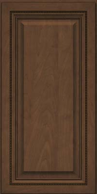 Square Raised Panel - Solid (ALM) Maple in Saddle Suede - Wall