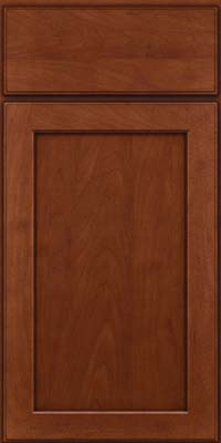 Square Recessed Panel - Veneer (AC9M) Maple in Chestnut w/Onyx Glaze - Base