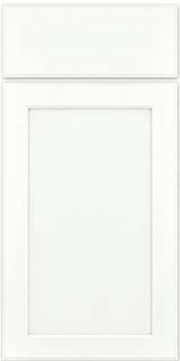 Square Recessed Panel - Veneer (AC9M) Maple in Dove White w/ Cinder Glaze - Base