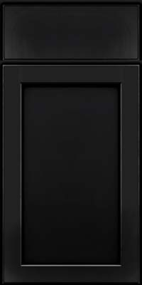 Square Recessed Panel - Veneer (AC9M) Maple in Onyx - Base