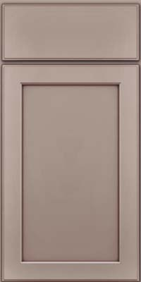 Square Recessed Panel - Veneer (AC9M) Maple in Pebble Grey w/ Cocoa Glaze - Base