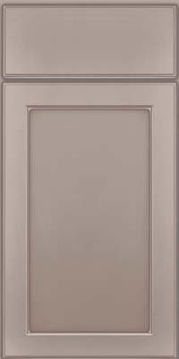 Square Recessed Panel - Veneer (AC9M) Maple in Pebble Grey w/ Coconut Glaze - Base