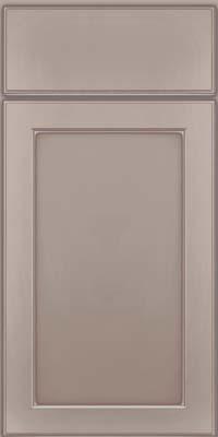 Square Recessed Panel - Veneer (AC9M) Maple in Pebble Grey w/ Coconut Glaze - Base