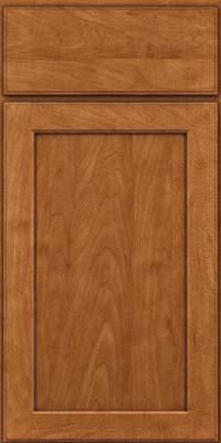 Square Recessed Panel - Veneer (AC9M) Maple in Praline w/Onyx Glaze - Base