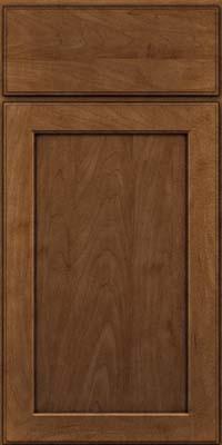 Square Recessed Panel - Veneer (AC9M) Maple in Rye w/Onyx Glaze - Base