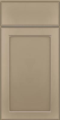 Square Recessed Panel - Veneer (AC9M1) Maple in Willow w/Coconut Glaze - Base