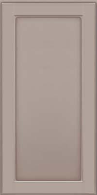 Square Recessed Panel - Veneer (AC9M) Maple in Pebble Grey w/ Coconut Glaze - Wall