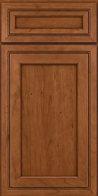 Square Recessed Panel - Veneer (ASCD) Cherry in Antique Chocolate w/Mocha Glaze - Base