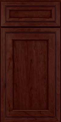 Square Recessed Panel - Veneer (ASCD) Cherry in Cabernet - Base