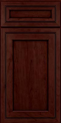 Square Recessed Panel - Veneer (ASCD) Cherry in Cabernet w/Onyx Glaze - Base