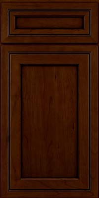 Square Recessed Panel - Veneer (ASCD) Cherry in Chocolate w/Ebony Glaze - Base