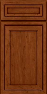 Square Recessed Panel - Veneer (ASCD) Cherry in Cinnamon w/Onyx Glaze - Base