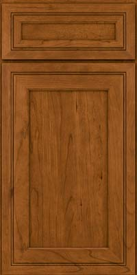 Square Recessed Panel - Veneer (ASCD) Cherry in Golden Lager - Base