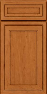 Square Recessed Panel - Veneer (ASCD) Cherry in Honey Spice - Base
