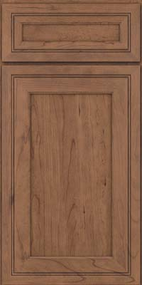 Square Recessed Panel - Veneer (ASC) Cherry in Husk Suede - Base