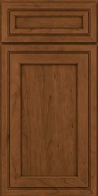 Square Recessed Panel - Veneer (ASCD) Cherry in Rye w/Sable Glaze - Base