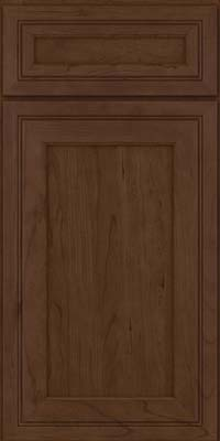 Square Recessed Panel - Veneer (ASC) Cherry in Saddle Suede - Base