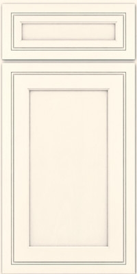 Square Recessed Panel - Veneer (ASM) Maple in Canvas w/ Cinder Glaze - Base
