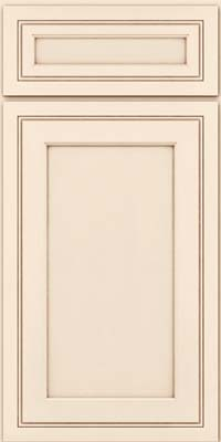 Square Recessed Panel - Veneer (ASMD) Maple in Canvas w/Cocoa Glaze - Base