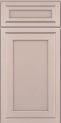 Square Recessed Panel - Veneer (ASMD1) Maple in Chai w/Cinder Glaze - Base