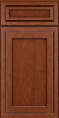 Square Recessed Panel - Veneer (ASMD) Maple in Chestnut w/Onyx Glaze - Base