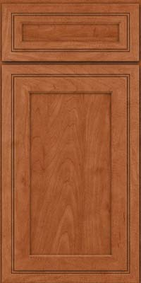 Square Recessed Panel - Veneer (ASMD) Maple in Cinnamon - Base