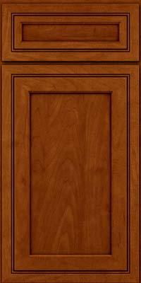Square Recessed Panel - Veneer (ASMD) Maple in Cinnamon w/Onyx Glaze - Base
