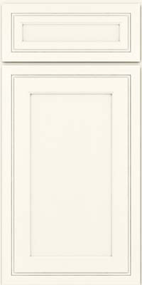 Square Recessed Panel - Veneer (ASMD) Maple in Dove White - Base
