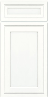 Square Recessed Panel - Veneer (ASM) Maple in Dove White w/ Cinder Glaze - Base