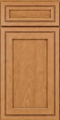Square Recessed Panel - Veneer (ASMD) Maple in Ginger w/Sable Glaze - Base