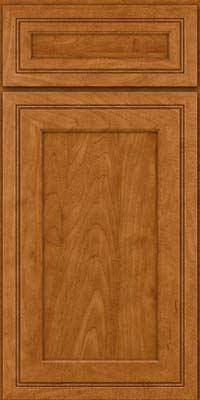 Square Recessed Panel - Veneer (ASMD) Maple in Golden Lager - Base