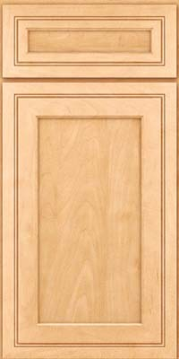 Square Recessed Panel - Veneer (ASMD) Maple in Honey Spice - Base