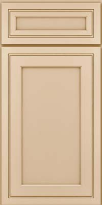 Square Recessed Panel - Veneer (ASMD) Maple in Mushroom - Base