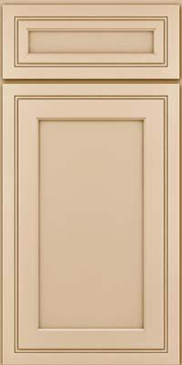 Square Recessed Panel - Veneer (ASMD) Maple in Mushroom - Base
