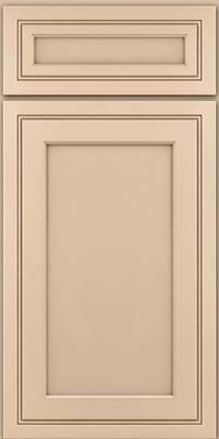 Square Recessed Panel - Veneer (ASMD) Maple in Mushroom w/Cocoa Glaze - Base