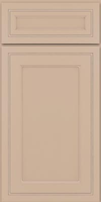 Square Recessed Panel - Veneer (ASMD1) Maple in Mushroom w/Coconut Glaze - Base