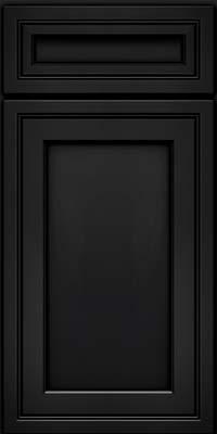 Square Recessed Panel - Veneer (ASMD) Maple in Onyx - Base