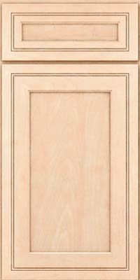 Square Recessed Panel - Veneer (ASMD) Maple in Parchment - Base