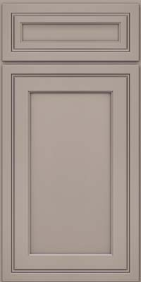 Square Recessed Panel - Veneer (ASM) Maple in Pebble Grey - Base