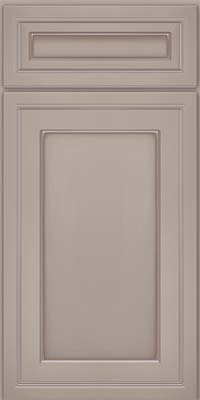 Square Recessed Panel - Veneer (ASM) Maple in Pebble Grey w/ Cocoa Glaze - Base
