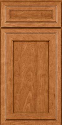 Square Recessed Panel - Veneer (ASMD) Maple in Praline w/Mocha Highlight - Base